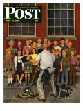 &quot;School Pictures &quot; Saturday Evening Post Cover  June 15  1946