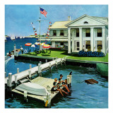 """Yacht Club,"" June 23, 1962 Giclée par George Hughes"
