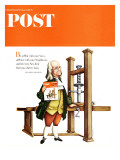 """Franklin Prints the POST "" Saturday Evening Post Cover  January 1  1966"