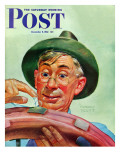 &quot;Patching a Tire &quot; Saturday Evening Post Cover  December 5  1942