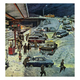"""Commuter Station Snowed In "" December 24  1960"