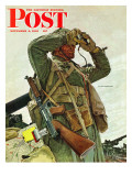 """Tank Patrol "" Saturday Evening Post Cover  November 6  1943"
