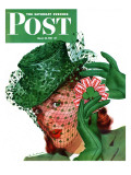&quot;Shamrock Chapeau &quot; Saturday Evening Post Cover  March 20  1943