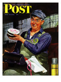 """Happy Father's Day "" Saturday Evening Post Cover  June 19  1943"