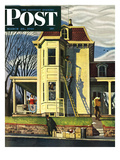 """Spring Cleaning "" Saturday Evening Post Cover  March 26  1949"