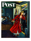 """Hidden Gifts "" Saturday Evening Post Cover  December 10  1949"