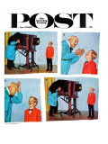 """""""Smile for the Photographer """" Saturday Evening Post Cover  April 21  1962"""