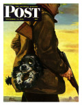 &quot;Pocket Pal &quot; Saturday Evening Post Cover  November 17  1945