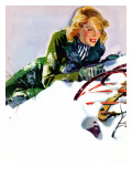 """Tumble from Sled "" January 27  1940"