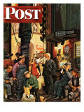"""""""Backstage at the Met """" Saturday Evening Post Cover  January 5  1946"""