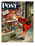 """Shopping for Mother's Day "" Saturday Evening Post Cover  May 10  1947"