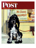 &quot;No Dogs Allowed &quot; Saturday Evening Post Cover  August 24  1946