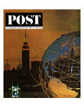 """New York World's Fair "" Saturday Evening Post Cover  May 23  1964"