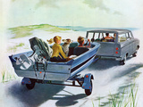 """Highway Boatride,"" July 14, 1962 Giclée par George Hughes"