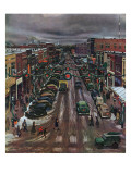"""Falls City  Nebraska at Christmas "" December 21  1946"