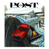 &quot;Kiss At the End of the Driveway &quot; Saturday Evening Post Cover  February 24  1962