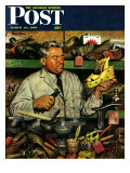 &quot;Shoe Repairman &quot; Saturday Evening Post Cover  March 20  1948