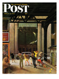 &quot;Windy City &quot; Saturday Evening Post Cover  March 23  1946