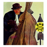 """Bass Fiddle at Bus Stop "" January 22  1944"