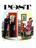 """She Has a Great Personality "" Saturday Evening Post Cover  May 12  1962"