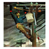 """Telephone Lineman "" January 10  1948"