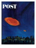 """Are Flying Saucers Real "" Saturday Evening Post Cover  December 17  1966"
