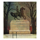 """Statue of Washington on His Horse "" February 22  1947"