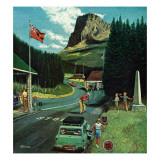 """US/Canadian Border at Waterton-Glacier "" August 5  1961"