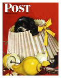 &quot;Butch &amp; Broken Lamp &quot; Saturday Evening Post Cover  February 23  1946