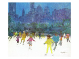 """Ice Skating in Central Park "" January 5  1963"