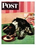 """Clothespinned Butch "" Saturday Evening Post Cover  February 10  1945"