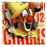 """Circus Clown and Poster "" July 8  1944"