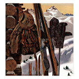"""Ski Equipment Still Life "" February 3  1945"