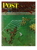 """Third Down  Goal to Go "" Saturday Evening Post Cover  October 15  1949"