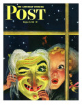 &quot;Witch&#39;s Mask &quot; Saturday Evening Post Cover  October 31  1942