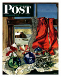 """Christmas Ornaments "" Saturday Evening Post Cover  December 18  1943"