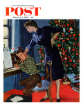 """Christmas Thank You Notes "" Saturday Evening Post Cover  January 9  1960"