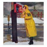 """Crossing Guard Fixing Her Makeup "" December 3  1960"