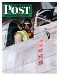 &quot;Fighter Pilot &quot; Saturday Evening Post Cover  May 22  1943