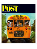 """School Bus "" Saturday Evening Post Cover  September 22  1962"
