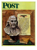 """Ben Franklin  1944 "" Saturday Evening Post Cover  January 15  1944"