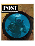 """Sealab Diver "" Saturday Evening Post Cover  September 5  1964"