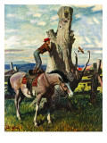 """Boy on Horse "" July 30  1949"