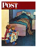 """Sunday Funnies "" Saturday Evening Post Cover  December 20  1947"