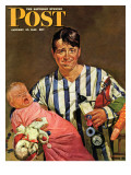 """Early Morning Feeding "" Saturday Evening Post Cover  January 27  1945"