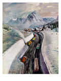 """Snowplows at Snoqualmie Pass "" February 6  1960"