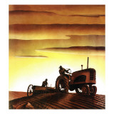 """Tractors at Sunset "" October 3  1942"