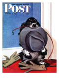 &quot;Go for A Walk &quot; Saturday Evening Post Cover  October 7  1944