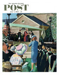 """College Graduation "" Saturday Evening Post Cover  June 4  1960"