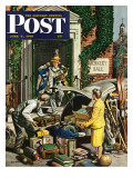 """Returning Home From College "" Saturday Evening Post Cover  June 5  1948"